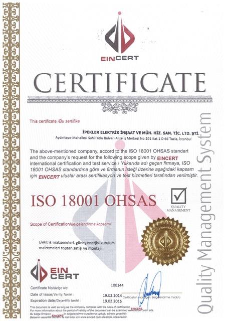 Sertifika / TSE / ISO / TPE