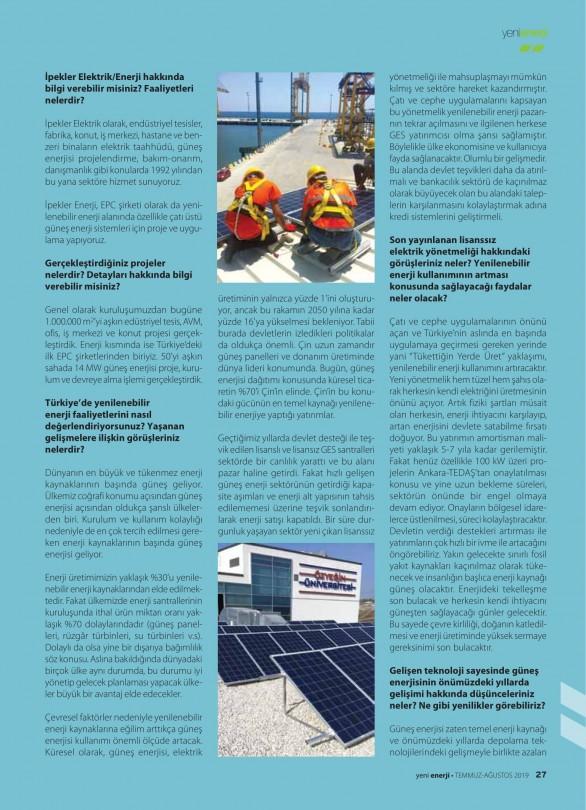 Yeni Enerji Dergisi Röportaj